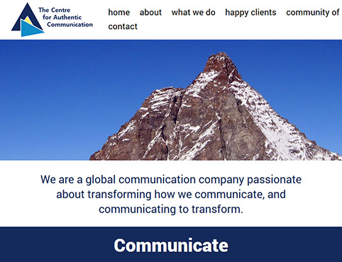 Website of the Centre for Authentic Communication.